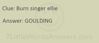 Burn Singer Ellie 7 Little Words 7littlewordsanswers Com