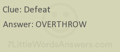 Defeat 7 Little Words Bonus 7littlewordsanswers Com