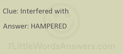 Interfered With 7 Little Words 7littlewordsanswers Com