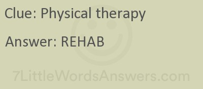 Physical Therapy 7 Little Words Bonus 7littlewordsanswers Com