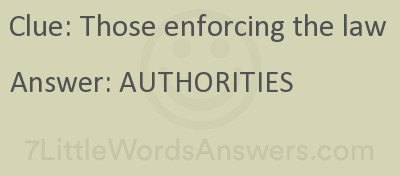 Those Enforcing The Law 7 Little Words Bonus 7littlewordsanswers Com
