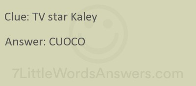 Tv Star Kaley 7 Little Words 7littlewordsanswers Com